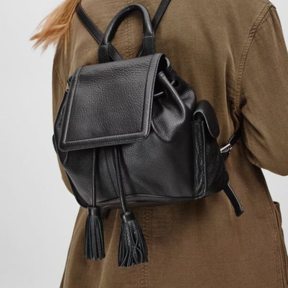 Aritzia Wilfred Free Leather Linda Backpack